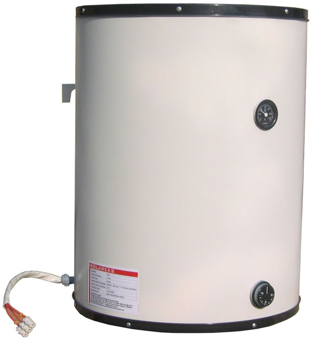 Wall hung electric boiler that heats water by central heating system ...